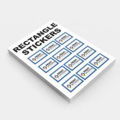 190gsm Rectangle Stickers - Print My Design