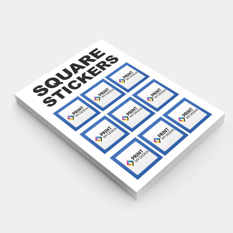 190gsm square stickers print my design