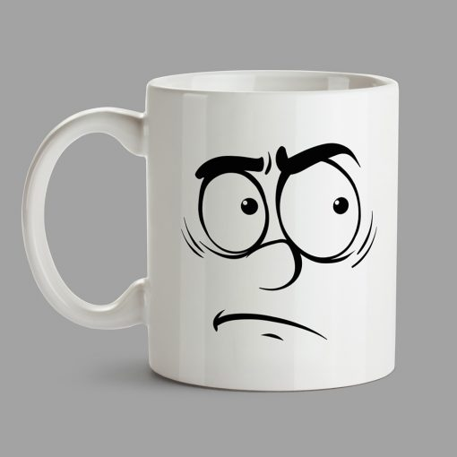 Personalised Mugs - Disgusted face