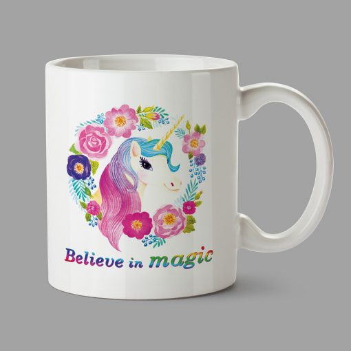 Personalised Mug - Unicorn mug - Believe in magic