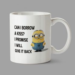Personalised Mugs (£5.90) - Can I borrow a kiss? - Stockport Print Design