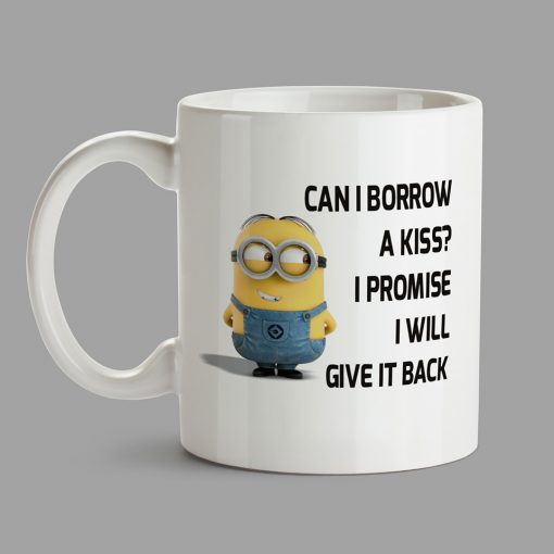 Personalised Mug - Can I borrow a kiss?