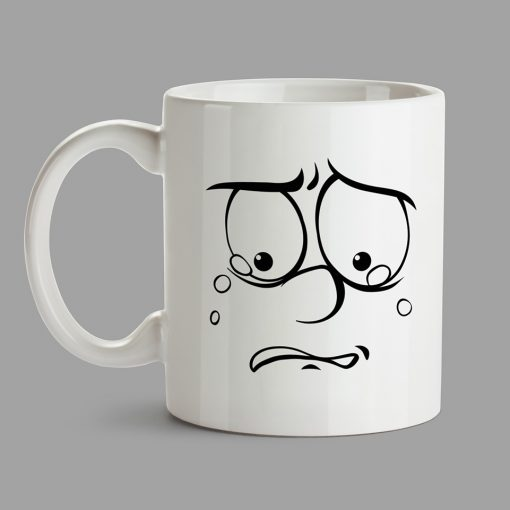 Personalised Mugs - Desperate face, cry