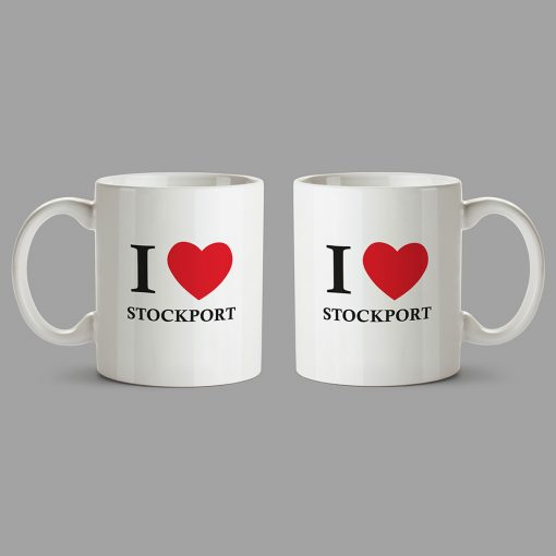 Personalised Mug - I Love Stockport