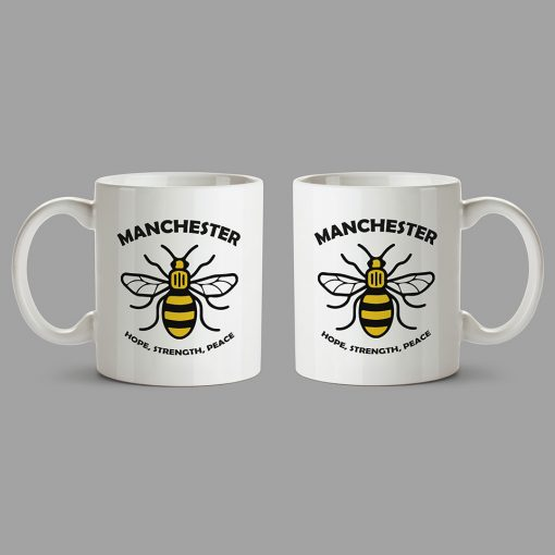 Personalised Mugs Manchester - Hope - Strength - Peace