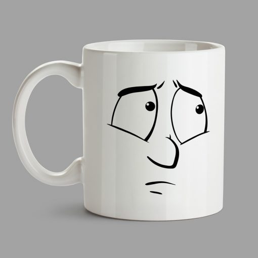 Personalised Mugs - Innocent face, missing face
