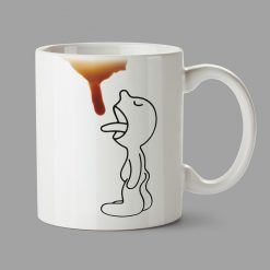 Personalised Mugs - Little guy try to drink coffee