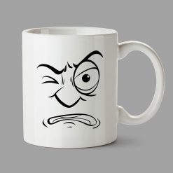 Personalised Mugs - Malicious face