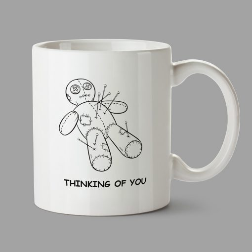 Personalised Mugs - Voodoo doll. Thinking of you.