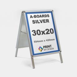 30x20 Silver A-Board