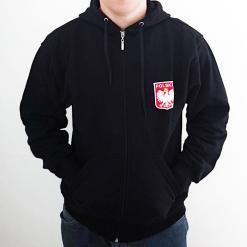 Polish Football Team - Black Hoodie - Adult