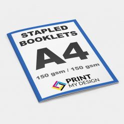 A4 Stapled Booklets - Long Edge: 150gsm / Cover: 150gsm