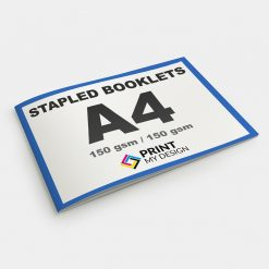 A4 Stapled Booklets - Short Edge: 150gsm / Cover: 150gsm