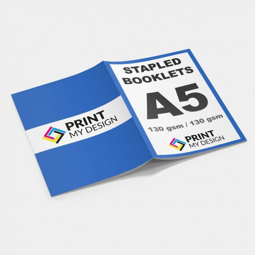 A5 Stapled Booklets - Long Edge: 130gsm / Cover: 130gsm