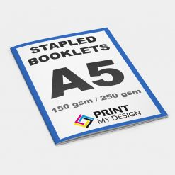A5 Stapled Booklets - Long Edge: 150gsm / Cover: 250gsm