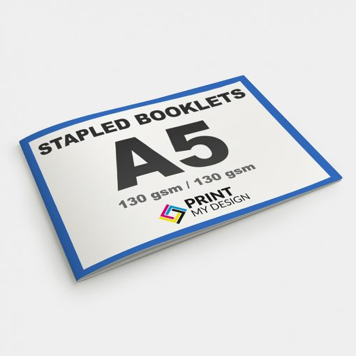 A5 Stapled Booklets - Short Edge: 130gsm / Cover: 130gsm