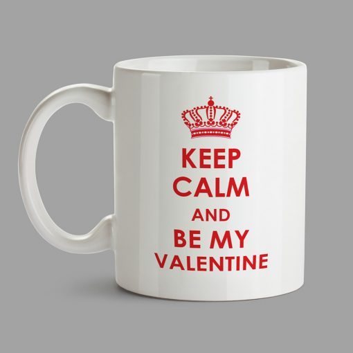 Personalised Mug - Keep Calm and by My Valentine