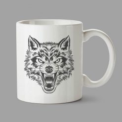 Personalised Mug - Wolf Head
